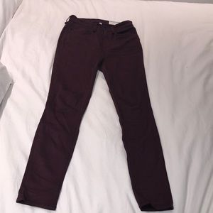 Rag & Bone High Rise Ankle Skinny Sz 26